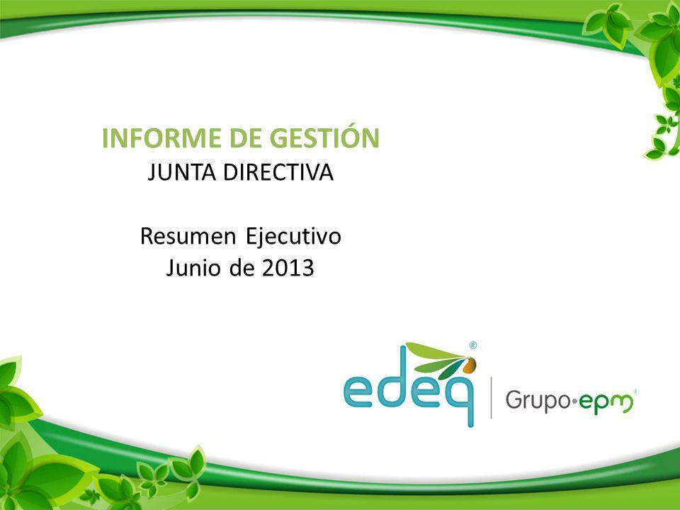 INFORME DE GESTIÓN JUNTA DIRECTIVA Resumen Ejecutivo Junio de 2013