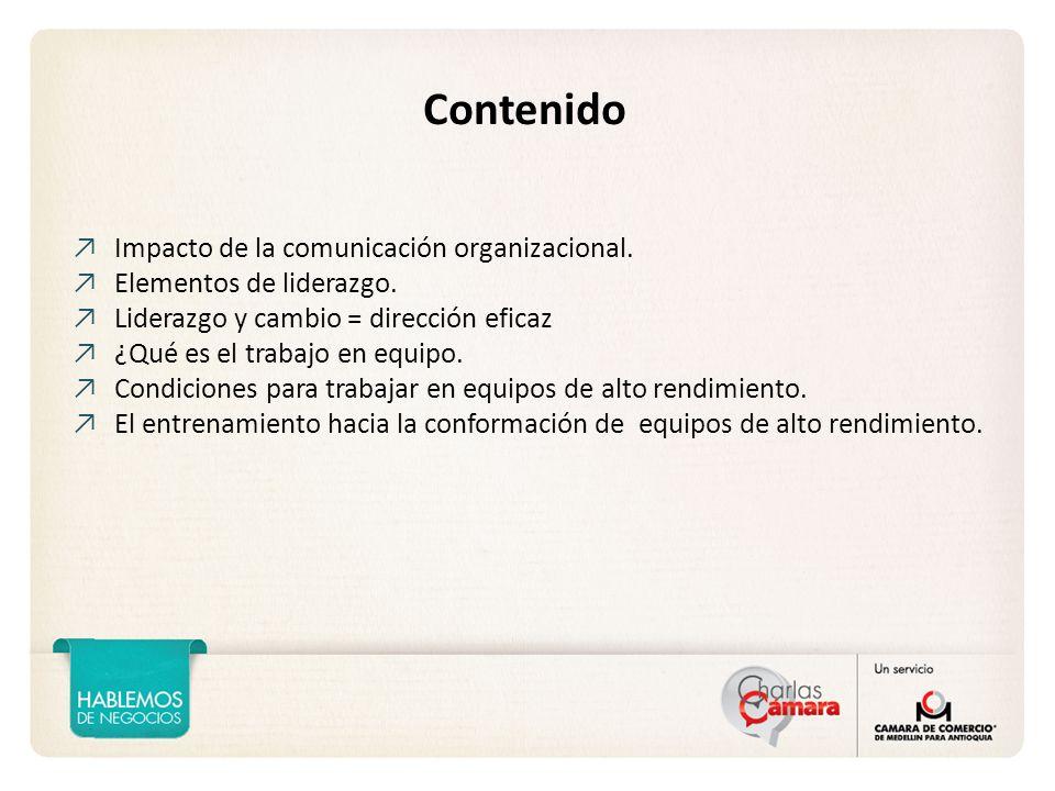 Contenido Impacto de la comunicación organizacional.
