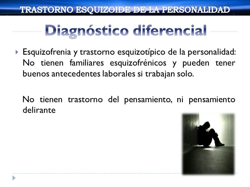 Los pacientes con trastorno paranoide de la personalidad, tienen mayor compromiso social, antecedentes de comportamiento verbal agresivo y mayor tendencia a proyectar sus sentimiento a otros.