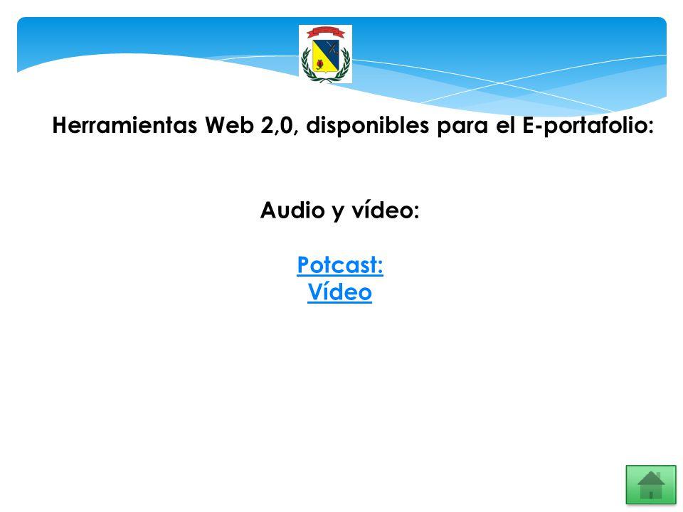 Herramientas Web 2,0, disponibles para el E-portafolio: Audio y vídeo: Potcast: Vídeo