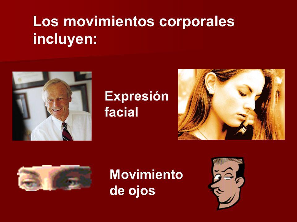 Los movimientos corporales incluyen: Expresión facial Movimiento de ojos