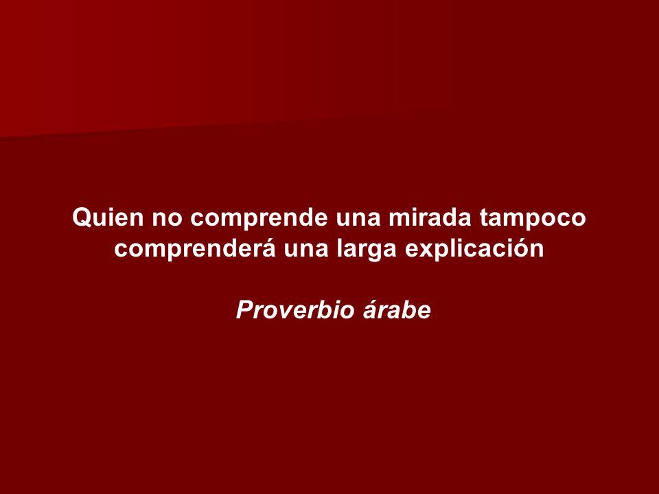 Quien no comprende una mirada tampoco comprenderá una larga explicación Proverbio árabe