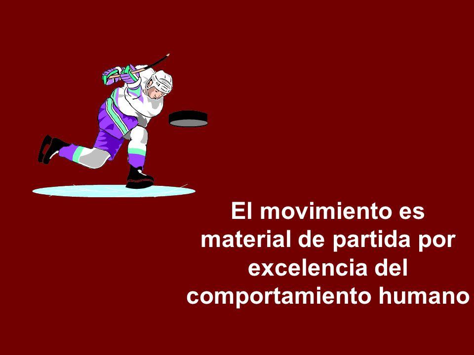 El movimiento es material de partida por excelencia del comportamiento humano