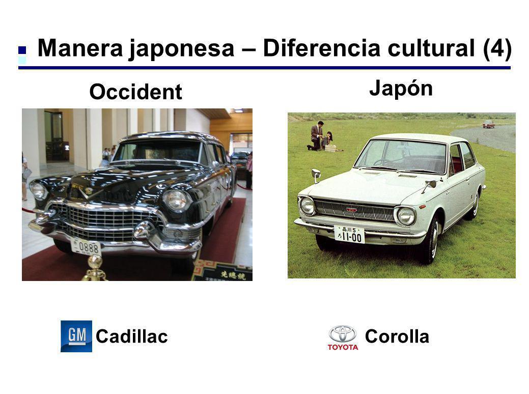 Manera japonesa – Diferencia cultural (4) CadillacCorolla Occident e Japón