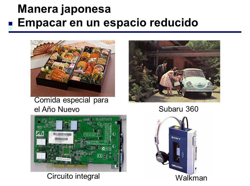 Manera japonesa Empacar en un espacio reducido Comida especial para el Año Nuevo Subaru 360 Circuito integral Walkman