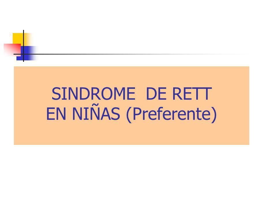 SINDROME DE RETT EN NIÑAS (Preferente)