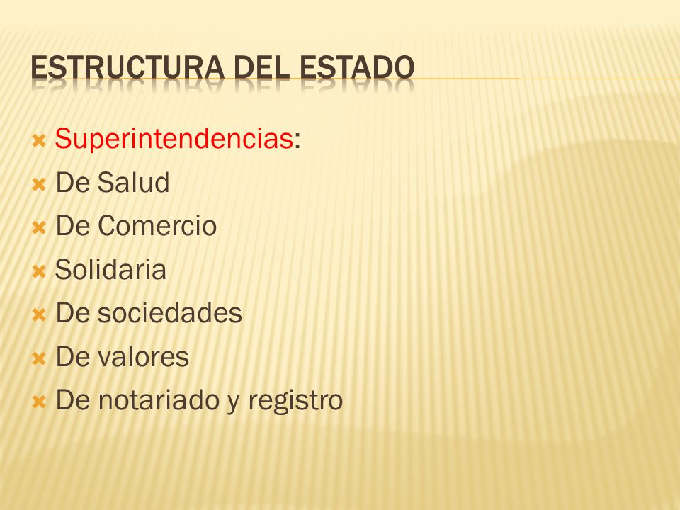 Superintendencias: De Salud De Comercio Solidaria De sociedades De valores De notariado y registro