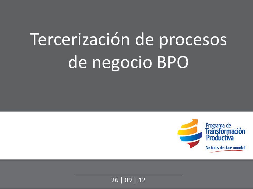 Objetivo específico: Crecer el mercado interno US$ 941 Millones* US$ 1.500 Millones* *Fuente de datos: Asociación Colombiana de Contact Centers y BPO, Cámara de BPO & IT de la Andi 2011.