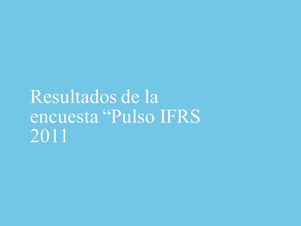 Resultados de la encuesta Pulso IFRS 2011
