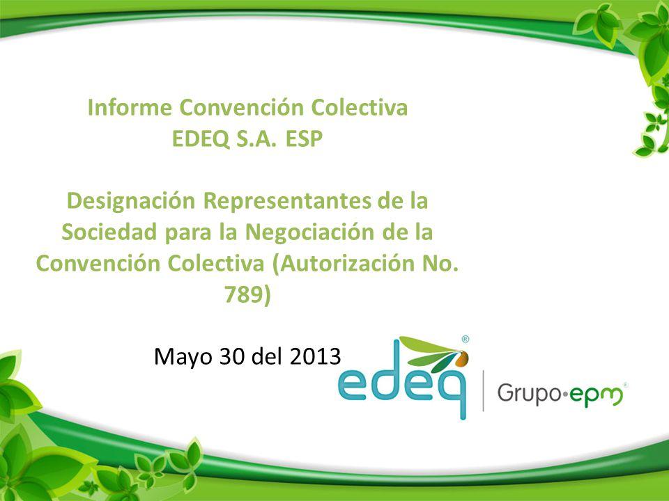 Informe Convención Colectiva EDEQ S.A.