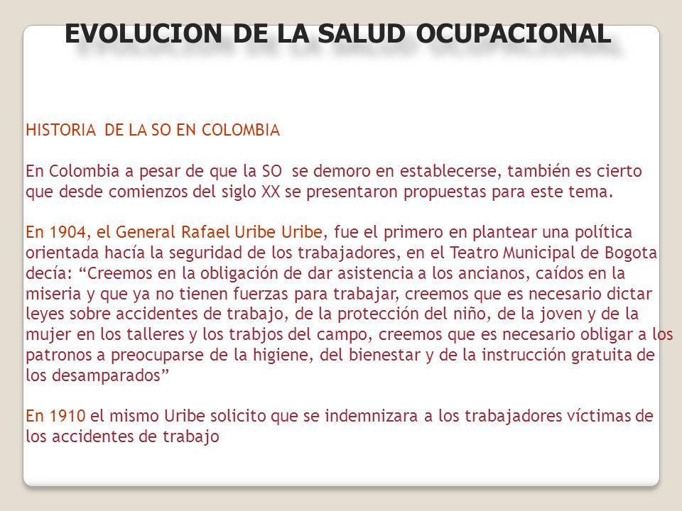 HISTORIA DE LA SO EN COLOMBIA En Colombia a pesar de que la SO se demoro en establecerse, también es cierto que desde comienzos del siglo XX se presen