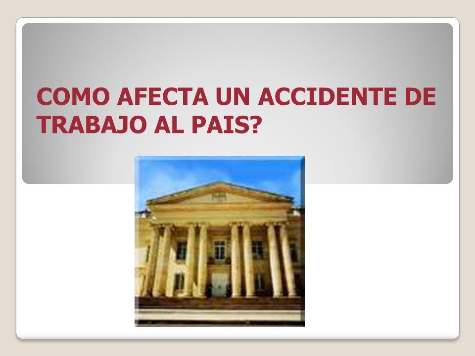 COMO AFECTA UN ACCIDENTE DE TRABAJO AL PAIS?
