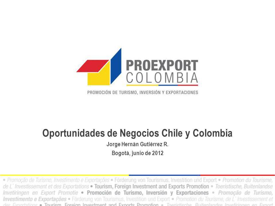 Oportunidades de Negocios Chile y Colombia Jorge Hernán Gutiérrez R. Bogotá, junio de 2012