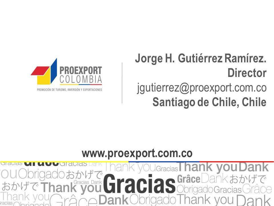 www.proexport.com.co Jorge H. Gutiérrez Ramírez. Director jgutierrez@proexport.com.co Santiago de Chile, Chile www.proexport.com.co