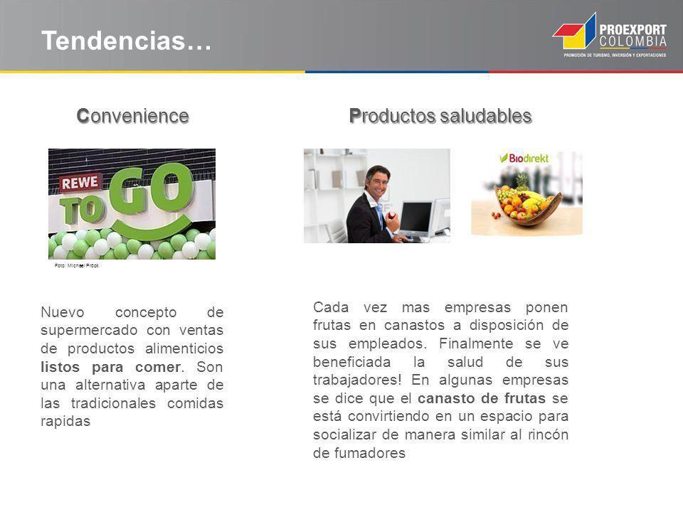 Tendencias… Productos saludables Nuevo concepto de supermercado con ventas de productos alimenticios listos para comer.