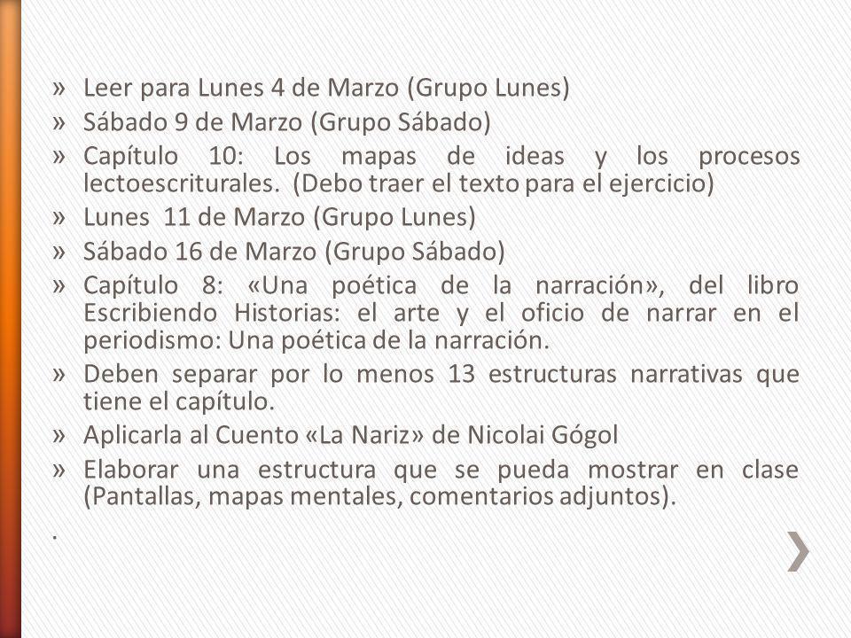 » Leer para Lunes 4 de Marzo (Grupo Lunes) » Sábado 9 de Marzo (Grupo Sábado) » Capítulo 10: Los mapas de ideas y los procesos lectoescriturales.