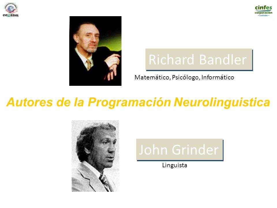 Richard Bandler John Grinder Autores de la Programación Neurolinguistica Matemático, Psicólogo, Informático Linguista