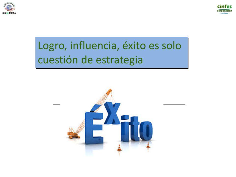 Logro, influencia, éxito es solo cuestión de estrategia Logro, influencia, éxito es solo cuestión de estrategia