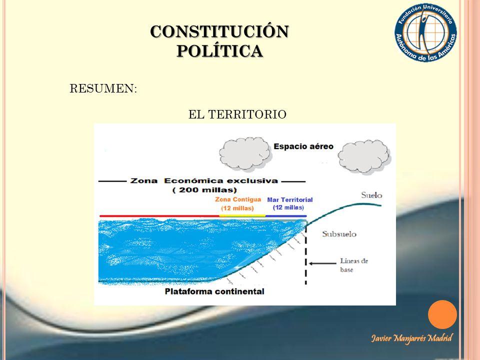 CONSTITUCIÓN POLÍTICA RESUMEN: EL TERRITORIO