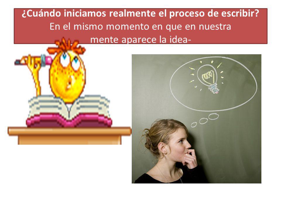 Proceso Seleccionaremos ideas, fuentes, documentos, textos; decantaremos, buscaremos, saltaremos, descartaremos, asociaremos, desplazaremos de lugar.