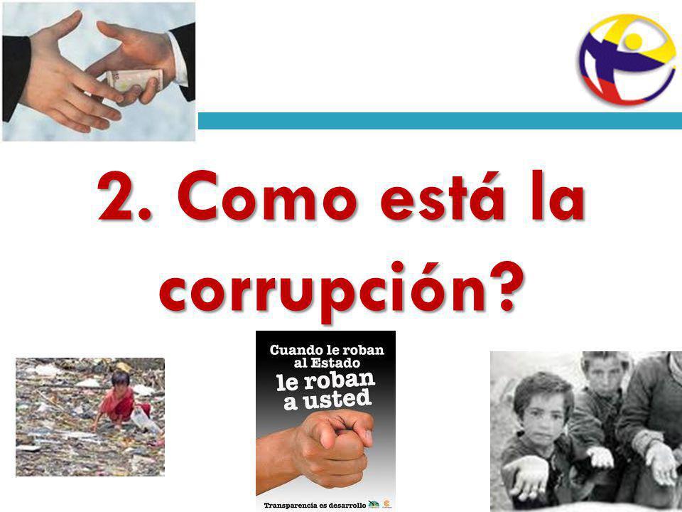2. Como está la corrupción?