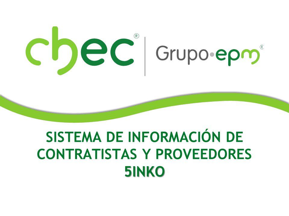 SISTEMA DE INFORMACIÓN DE CONTRATISTAS Y PROVEEDORES5INKO