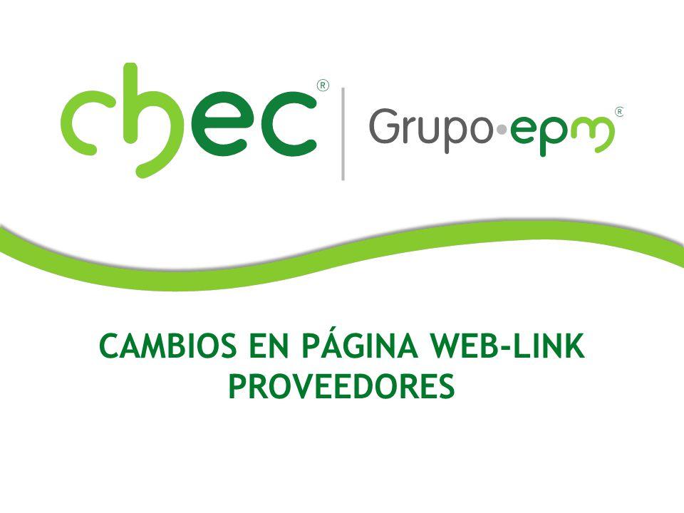 CAMBIOS EN PÁGINA WEB-LINK PROVEEDORES