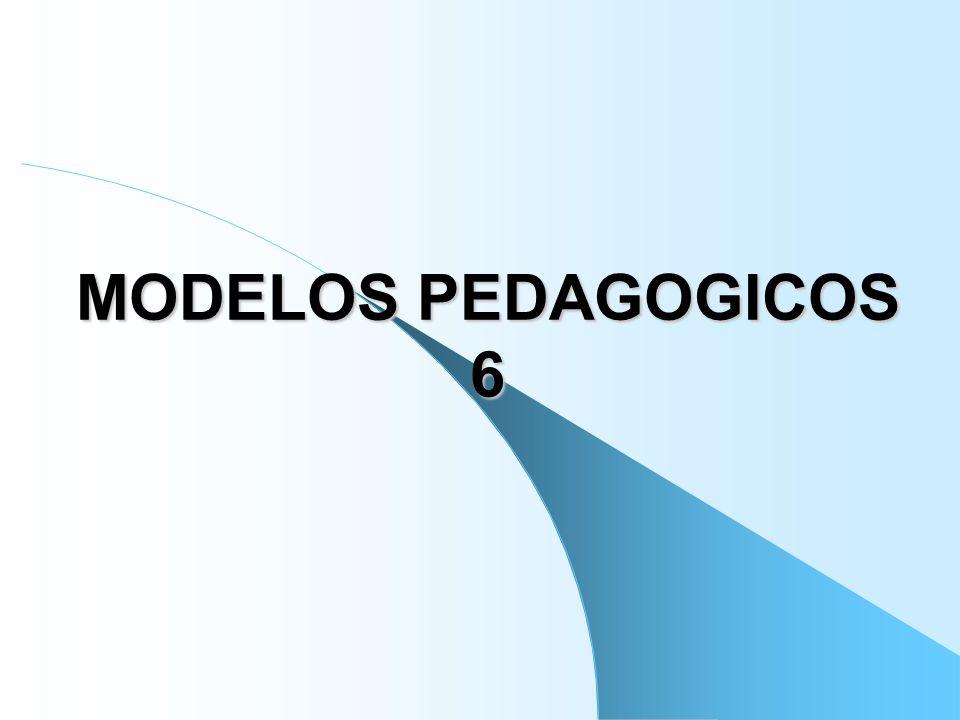 MODELO PEDAGOGICO La pedagogía ha construido una serie de modelos o representaciones ideales del mundo de lo educativo para explicar teóricamente su hacer.