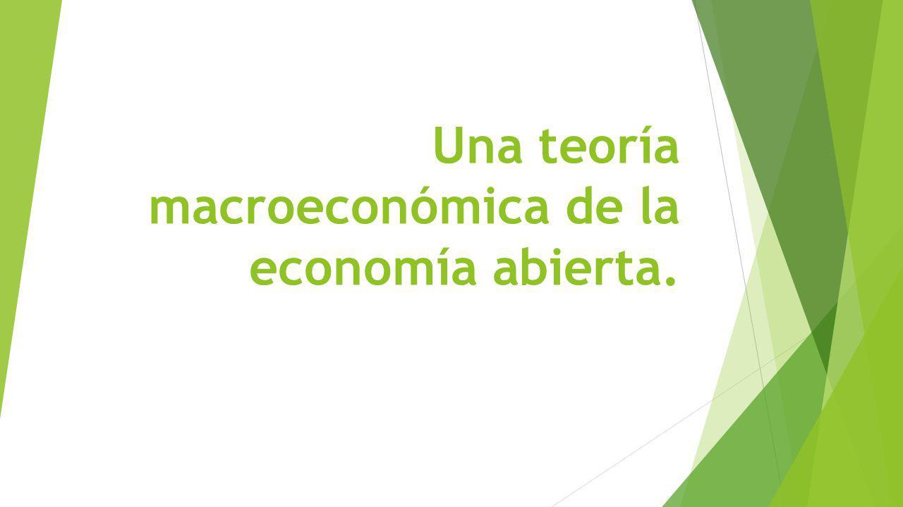 Una teoría macroeconómica de la economía abierta.