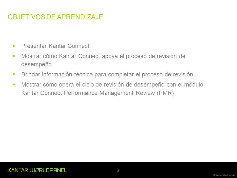 2 © Kantar Worldpanel Presentar Kantar Connect.