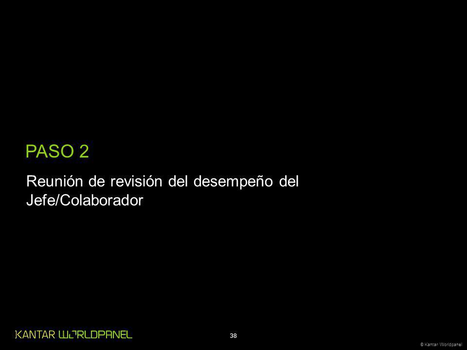 38 © Kantar Worldpanel PASO 2 Reunión de revisión del desempeño del Jefe/Colaborador