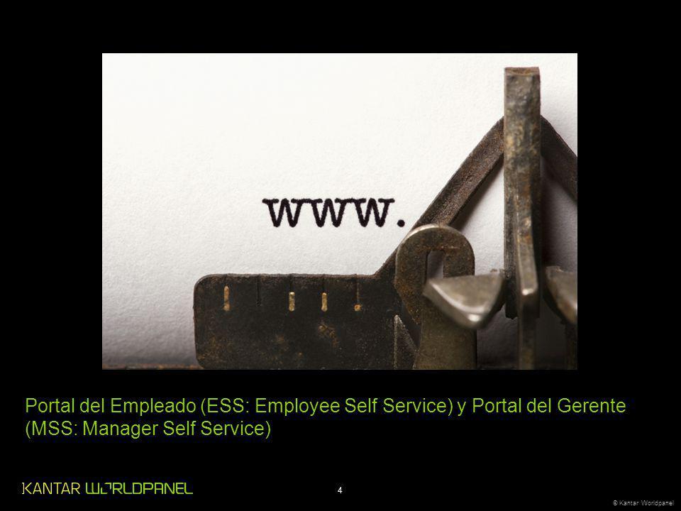 4 © Kantar Worldpanel Portal del Empleado (ESS: Employee Self Service) y Portal del Gerente (MSS: Manager Self Service)