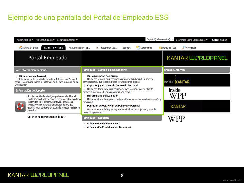 6 © Kantar Worldpanel Ejemplo de una pantalla del Portal de Empleado ESS