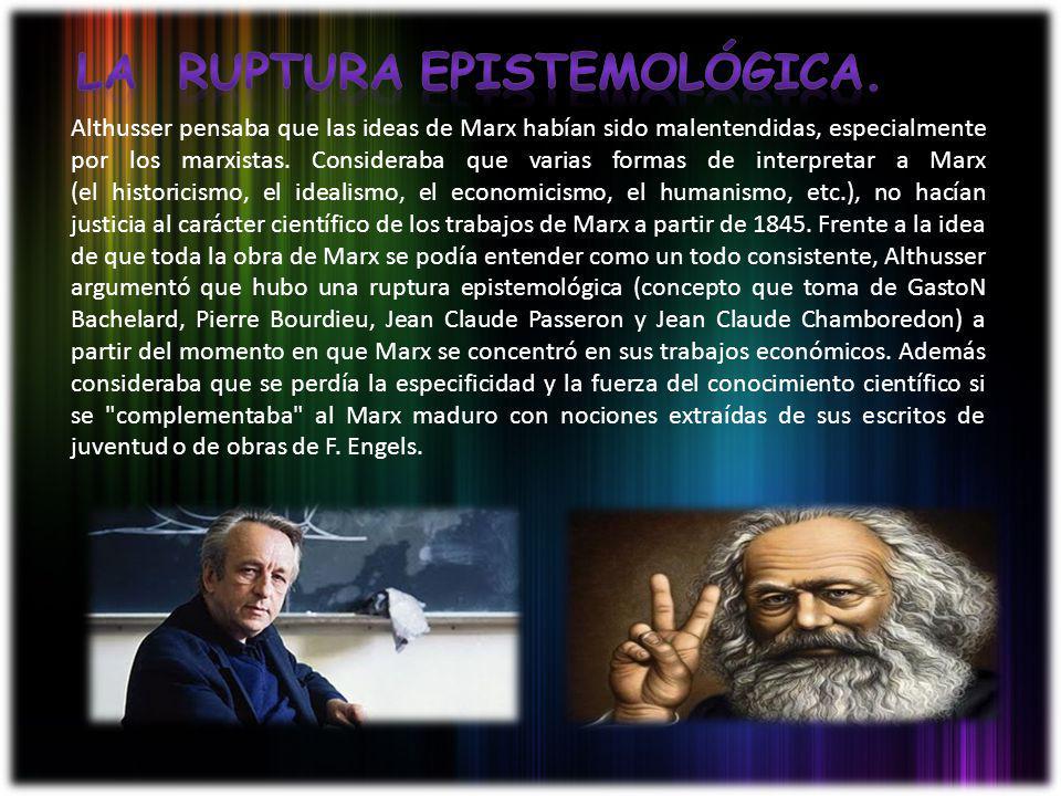 Althusser pensaba que las ideas de Marx habían sido malentendidas, especialmente por los marxistas. Consideraba que varias formas de interpretar a Mar