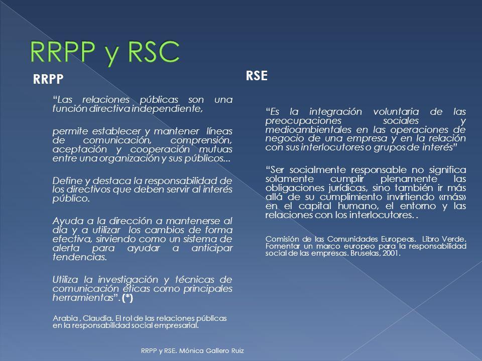 RRPP Las relaciones públicas son una función directiva independiente, permite establecer y mantener líneas de comunicación, comprensión, aceptación y