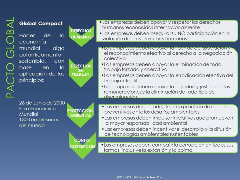 Global Compact Hacer de la economía mundial algo auténticamente sostenible, con base en la aplicación de los principios: 26 de Junio de 2000 Foro Econ