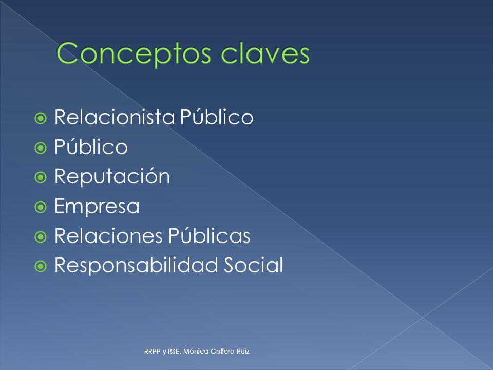 Relacionista Público Público Reputación Empresa Relaciones Públicas Responsabilidad Social RRPP y RSE. Mónica Gallero Ruiz