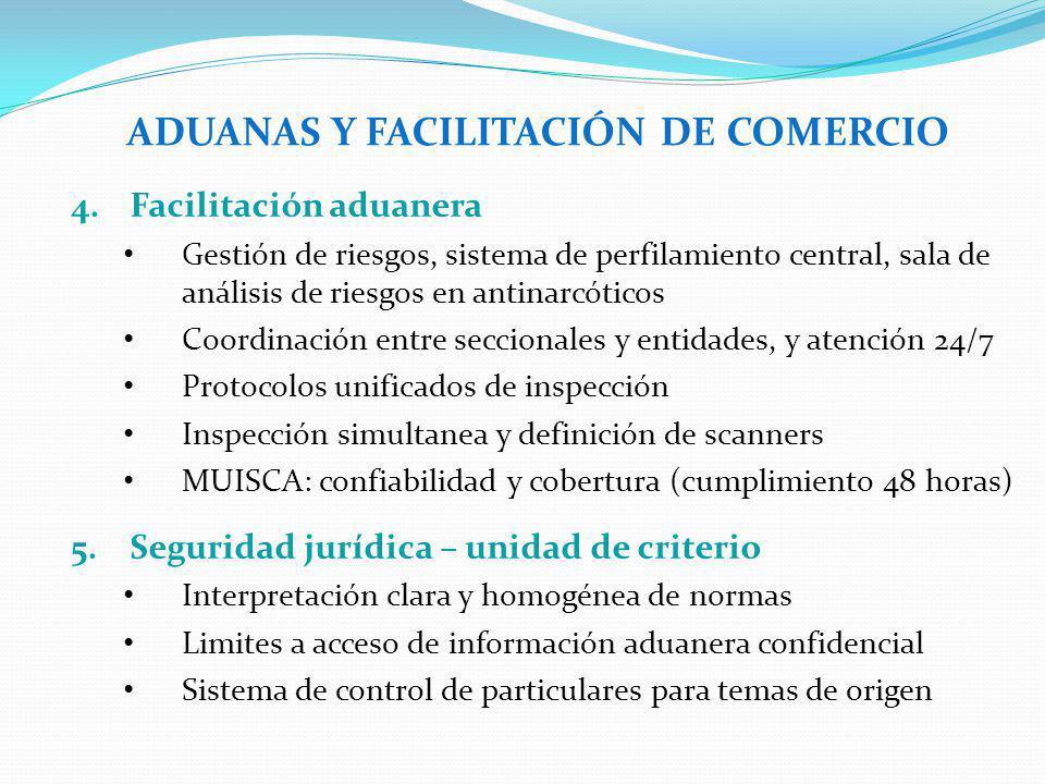 ADUANAS Y FACILITACIÓN DE COMERCIO 4.Facilitación aduanera Gestión de riesgos, sistema de perfilamiento central, sala de análisis de riesgos en antina