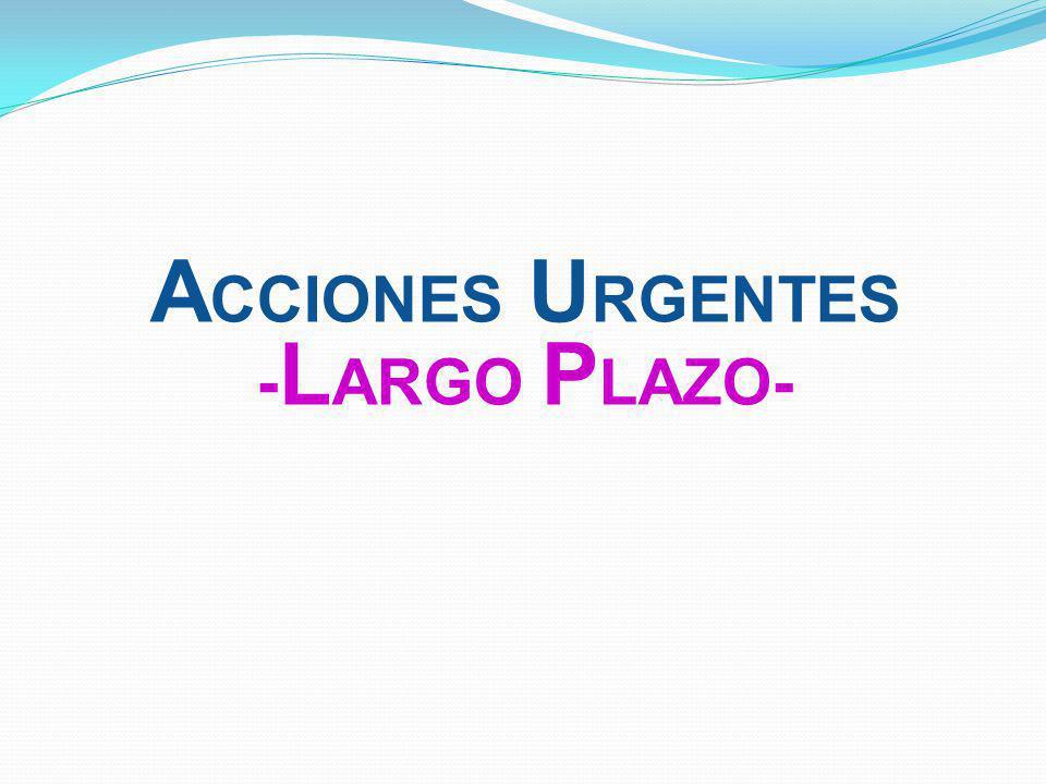 A CCIONES U RGENTES - L ARGO P LAZO-