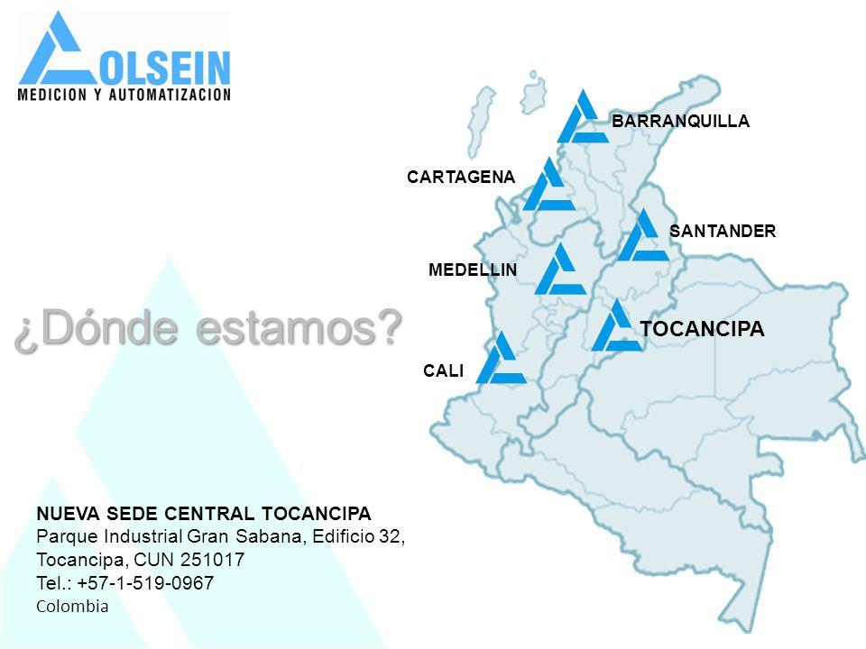 NUEVA SEDE CENTRAL TOCANCIPA Parque Industrial Gran Sabana, Edificio 32, Tocancipa, CUN 251017 Tel.: +57-1-519-0967 Colombia MEDELLIN BARRANQUILLA CAL