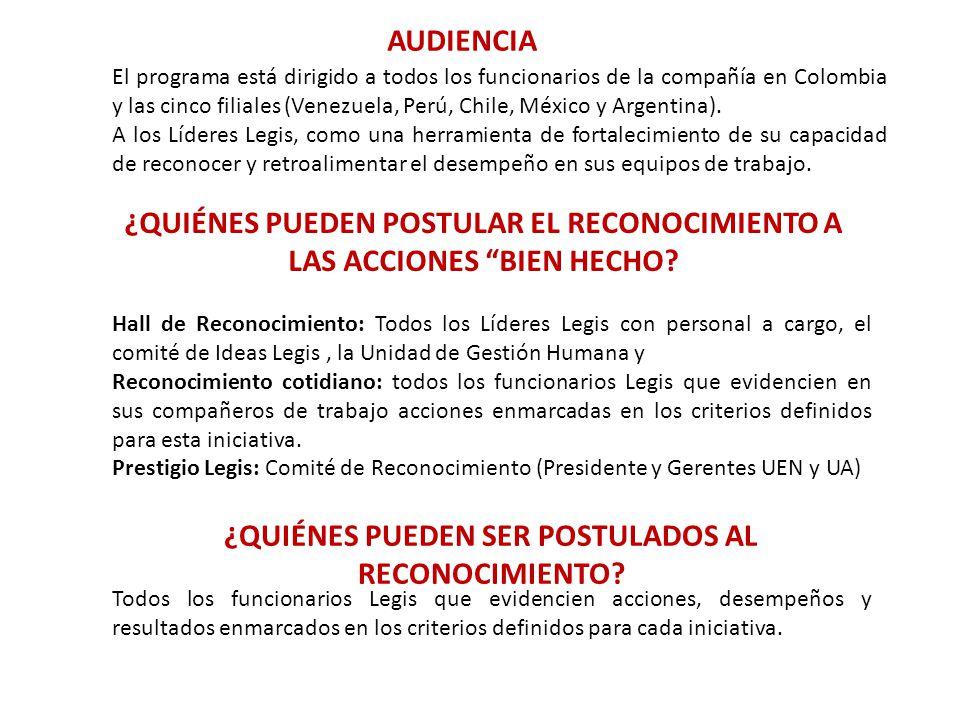 El programa está dirigido a todos los funcionarios de la compañía en Colombia y las cinco filiales (Venezuela, Perú, Chile, México y Argentina). A los