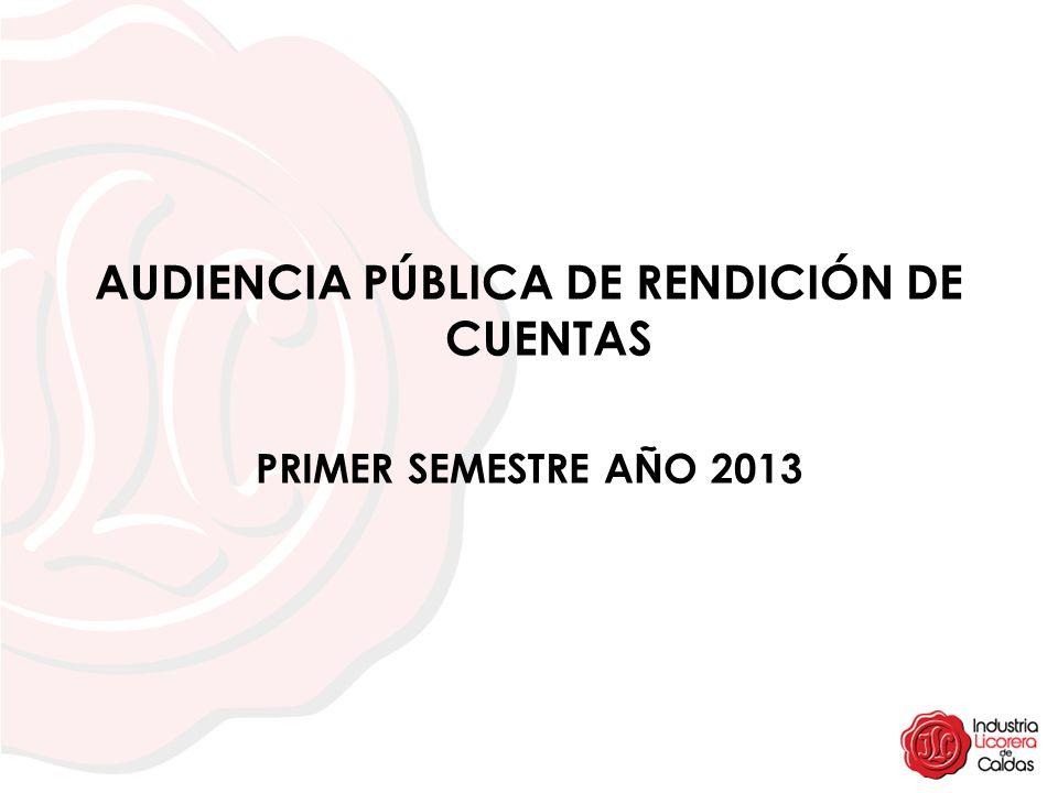 AUDIENCIA PÚBLICA DE RENDICIÓN DE CUENTAS PRIMER SEMESTRE AÑO 2013