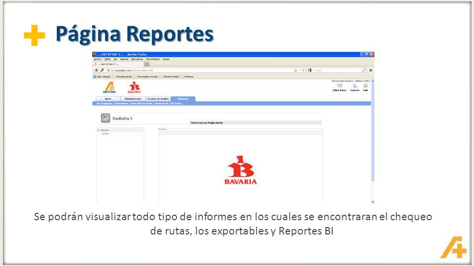 + Reportes – Ver Rutas Comprobación de Rutas en diferentes pestañas, ruta programada vs a la ruta real
