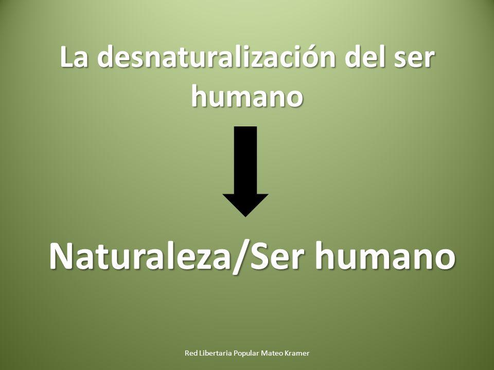 La desnaturalización del ser humano Red Libertaria Popular Mateo Kramer Naturaleza/Ser humano