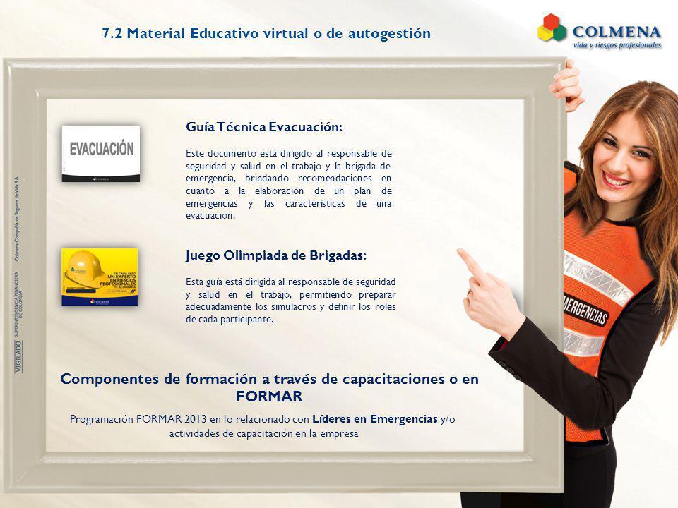 Programación FORMAR 2013 en lo relacionado con Líderes en Emergencias y/o actividades de capacitación en la empresa Guía Técnica Evacuación: Este docu