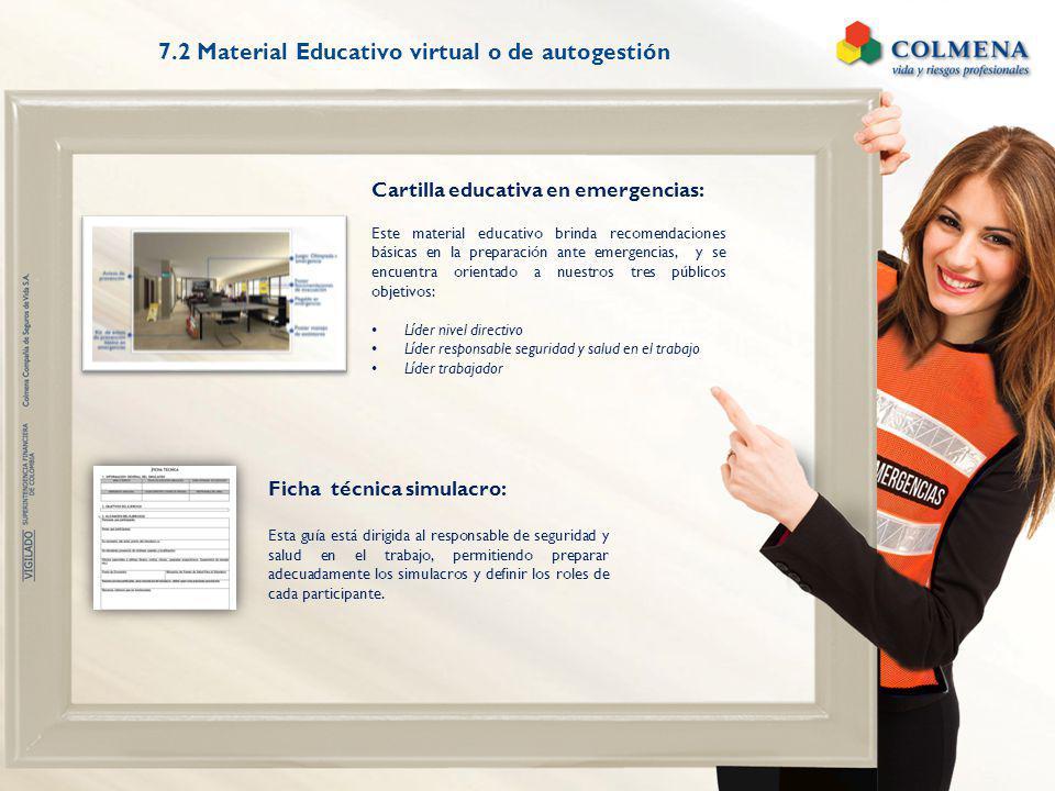 Cartilla educativa en emergencias: Este material educativo brinda recomendaciones básicas en la preparación ante emergencias, y se encuentra orientado