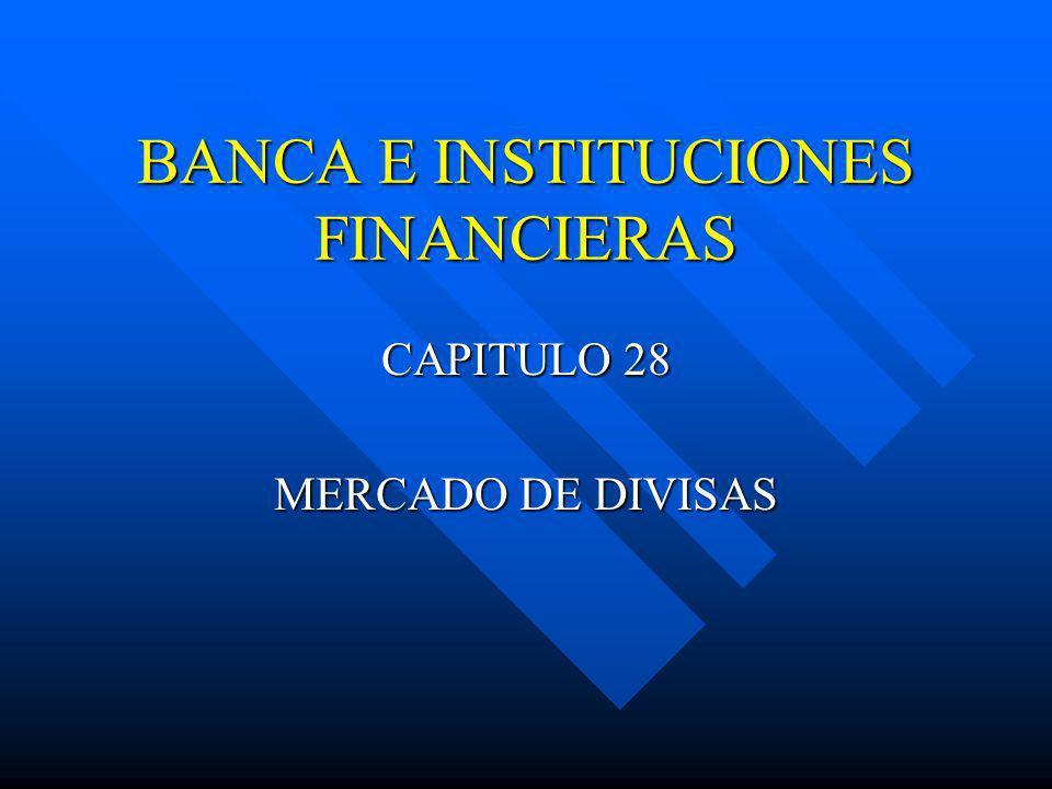BANCA E INSTITUCIONES FINANCIERAS CAPITULO 28 MERCADO DE DIVISAS