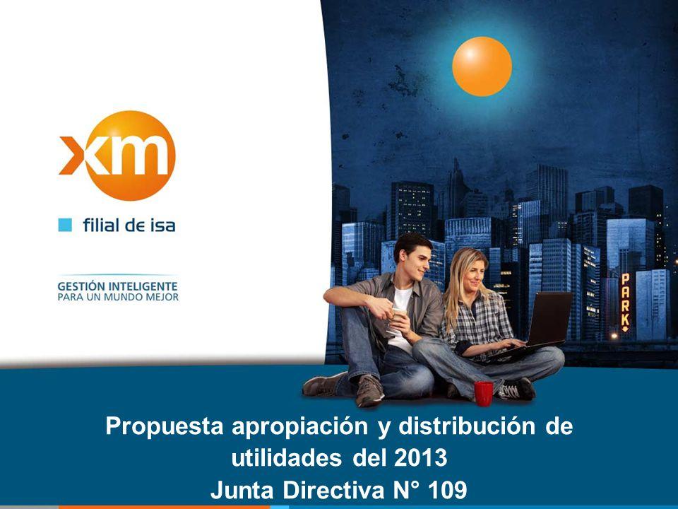 Propuesta apropiación y distribución de utilidades del 2013 Junta Directiva N° 109