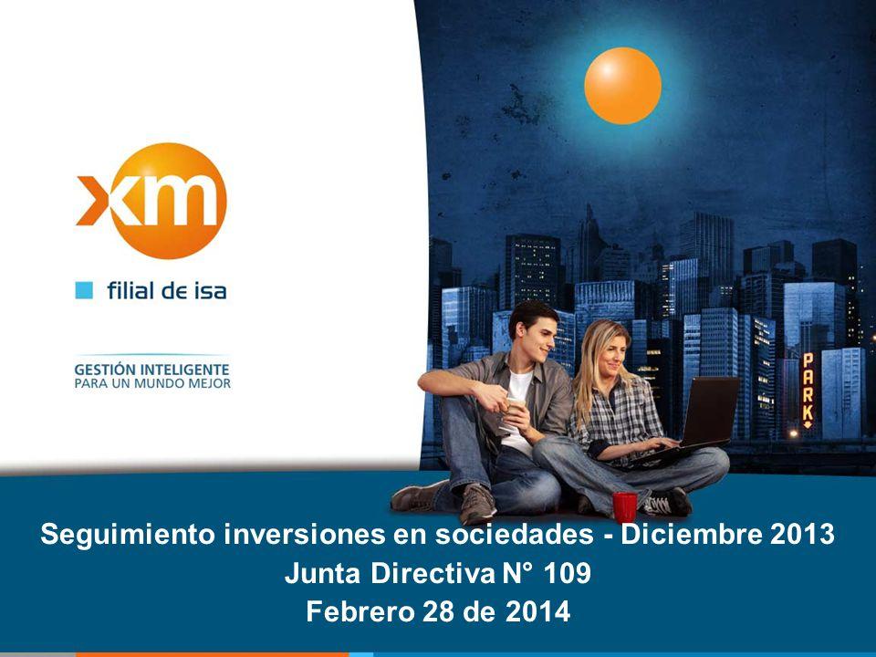 Seguimiento inversiones en sociedades - Diciembre 2013 Junta Directiva N° 109 Febrero 28 de 2014