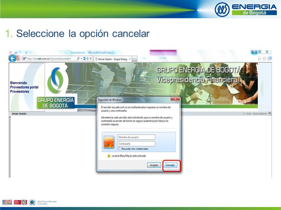 2.Digite el usuario y clave recibidos vía electrónica.